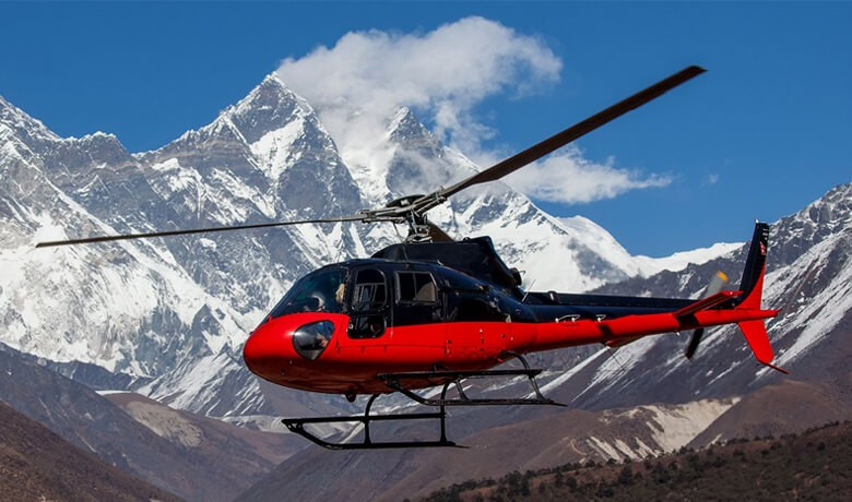 Everest Base camp helicopter return trek