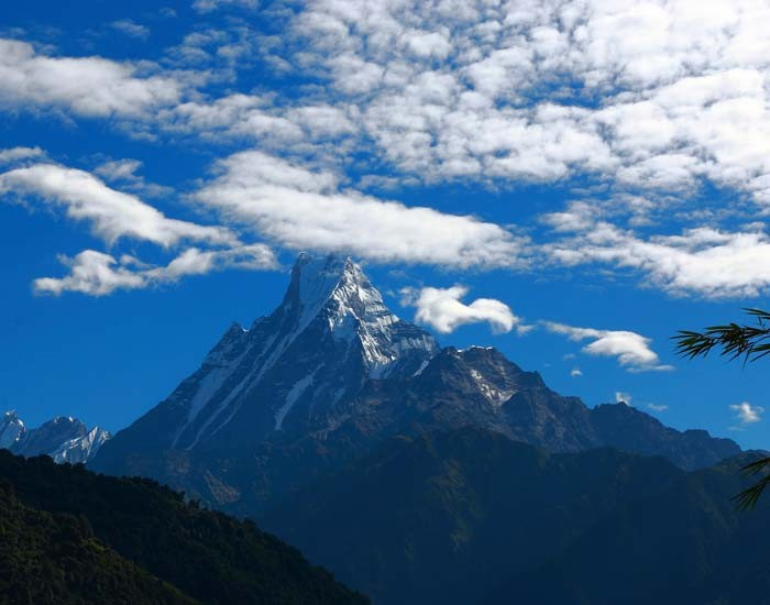 Mountain View on Annapurna Base Camp Trek