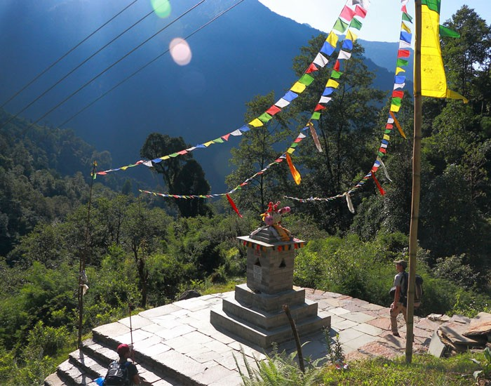 A Mani along the Poon Hill Trek Route